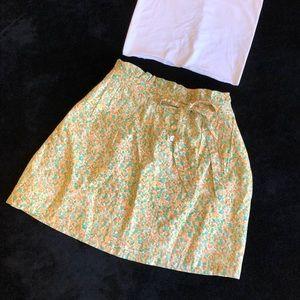 J.Crew Floral Skirt A-Line Skirt